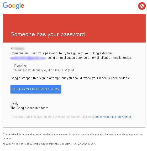 gmail attempt blocked