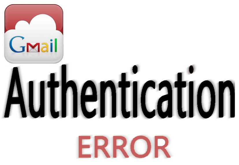 authentication error gmail